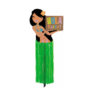 Hula Girl Yard Sign- 23in