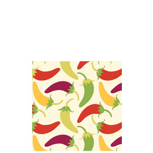 Chilies Beverage Napkins- 18ct