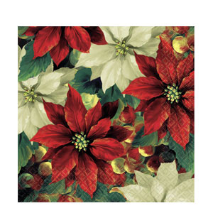 Regal Poinsettia Dinner Napkins