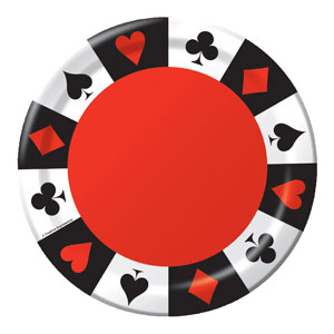 Card Night 9 Inch Plates- 8ct