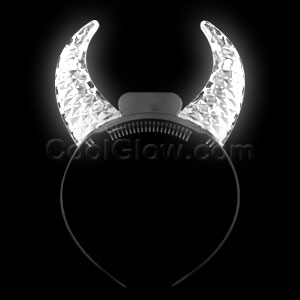 Fun Central O769 LED Light Up Clear Crystal Devil Horns - Multicolor