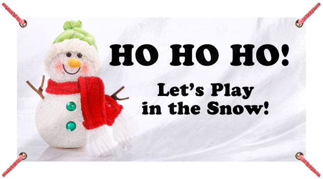 Snowman on Ice - Custom Banner