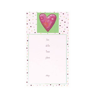 Calico Heart Invitations