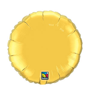 18 Inch Round Metallic Balloon- Metallic Gold
