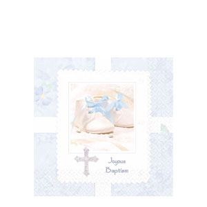 Tiny Blessing Blue Luncheon Napkins- 16ct