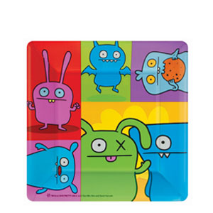 Ugly Doll Square 10 Inch Plates- 8ct