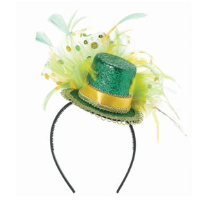 St. Patrick's Day Feathered Headband