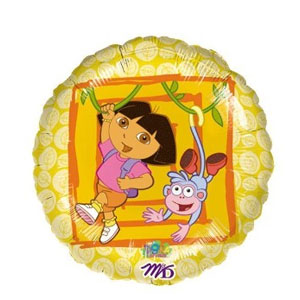 Dora the Explorer Dora and Boots Balloon- 18 Inch
