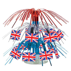 British Flag Mini Cascade Centerpiece- 7in