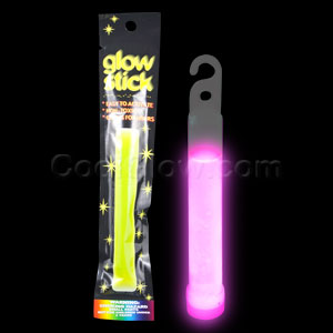 4 Inch Retail Packaged Glow Stick - Pink