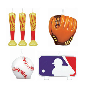 MLB Molded Cake Cadle Set- 6ct