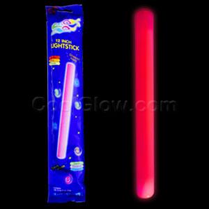 12 Inch Glow Baton - Red