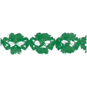 Paper Tissue Garland - Green