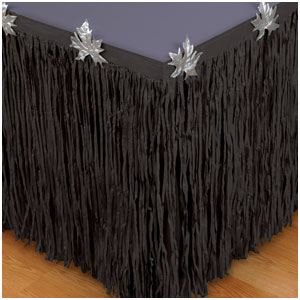 Black Tissue Table Skirt- 10ft