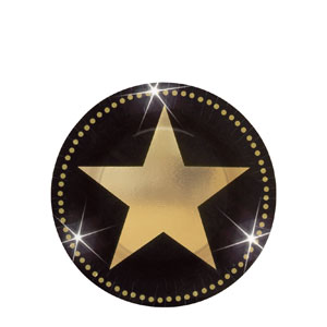 Star Attraction Metallic 7 Inch Plates- 8ct