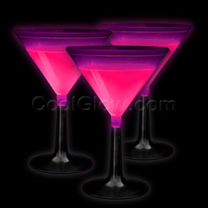 Glow Martini Glass - Pink