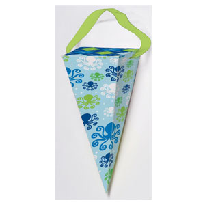 Ocean Preppy Favor Bag - Cone