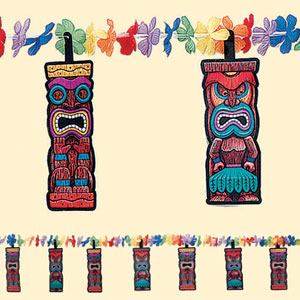 Tiki Flower Garland- 12ft