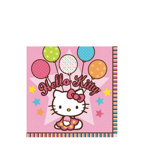 Hello Kitty Balloon Dreams Beverage Napkins- 16ct