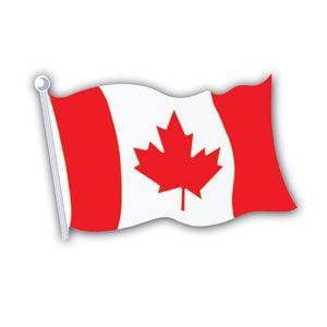 Canadian Flag Cutout- 18in