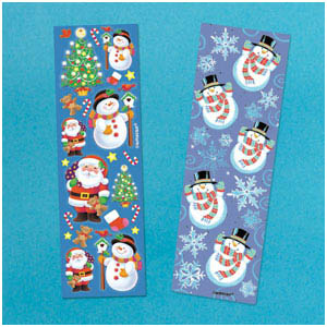Christmas Strip Stickers- 8ct