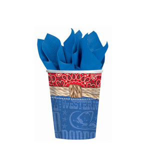 Bandana Ranch 9 oz. Cups - 8ct