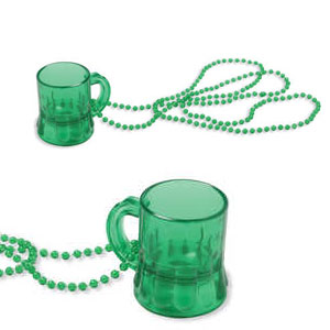 33 Inch Bead Necklace with Mini Beer Mug