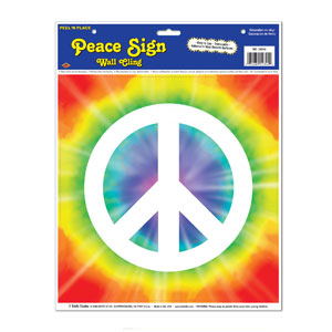 Peace Sign Peel n Place - 15in