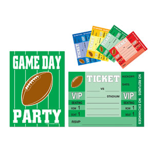 Game Day Football Invitations- 8ct
