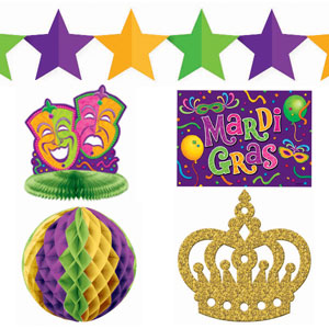 Mardi Gras Decoration Kit - 10pc