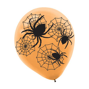 Spider Web All-Over-Print Latex Balloons- 20ct