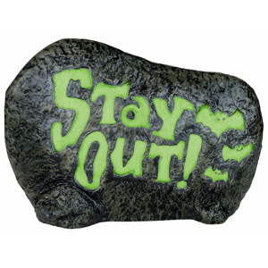 Color Changing Stay Out Garden Stone- 11in