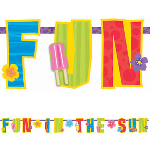 Fun in the Sun Letter Banner- 11ft