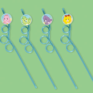 Care Bears Happy Day Straws Favors- 4ct