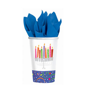 Playful Menorah 9 oz. Cups