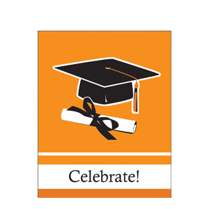 Grad Invitation - Orange