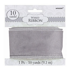 Silver Wired Ribbon- 300ft