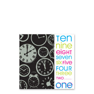 New Year Countdown Beverage Napkins