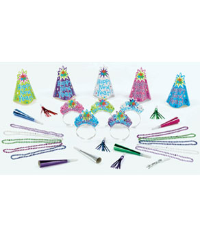 Light Up New Years Party Kit for 10- 30pc