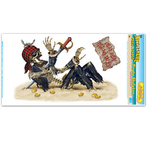 Pirate Skeleton Peel N Place - 1pc