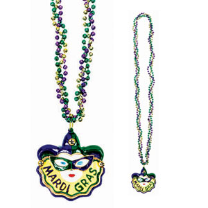 36 Inch Mardi Gras Mask Twist Necklace