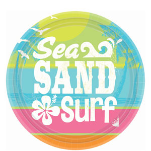 Summer Surf 7 inch Plates- 8ct