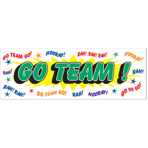 Go Team Banner- 5ft