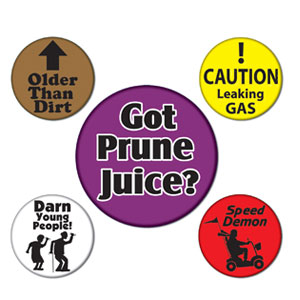 Over the Hill Party Buttons - 5ct