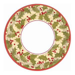 Winter Holly 9 Inch Plates