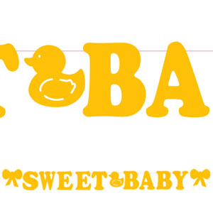 Sweet Baby Yellow Banners