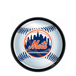 New York Mets 9 Inch Plates- 18ct
