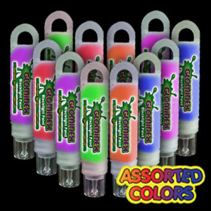 Glominex Blacklight UV Reactive Paint Assorted Tubes - 12