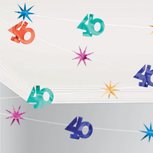 The Party Continues-40 Value String Decorations- 100ft