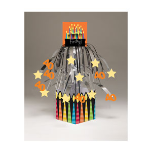 40 Candles Centerpiece - Mini-Foil